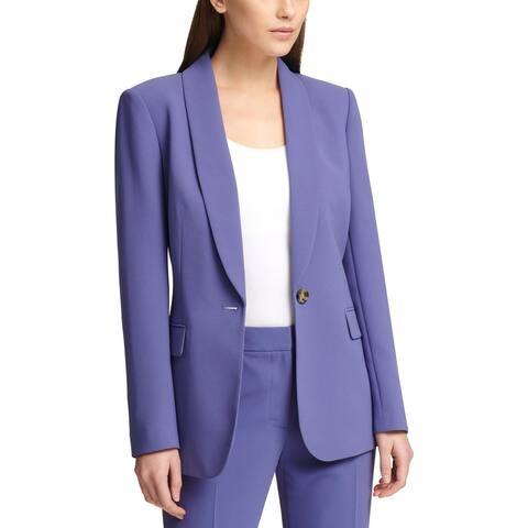 DKNY Womens One-Button Blazer Business Office