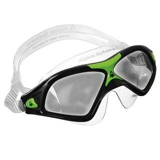 Aqua Sphere Seal XP2 Smoke Lens Swim Goggles - Black/Green