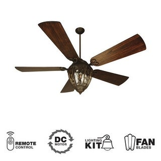 """Craftmade K10337 Olivier 70"""" 5 Blade DC Indoor Ceiling Fan - Blades, Remote and Light Kit Included"""