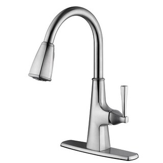 Single Handle Perth Pull Down Satin Nickel Kitchen Faucet