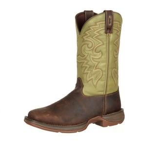 "Durango Western Boots Mens 12"" Rebel Pull On Square Toe Coffee DB5416"
