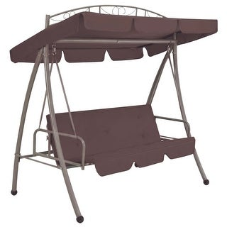 vidaXL Outdoor Swing Chair with Canopy Coffee