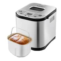 Costway Automatic Bread Maker Stainless Steel Programmable 2LB Bread Machine Silver New