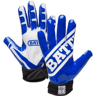 Battle Sports Science Receivers Ultra-Stick Football Gloves - Blue/White