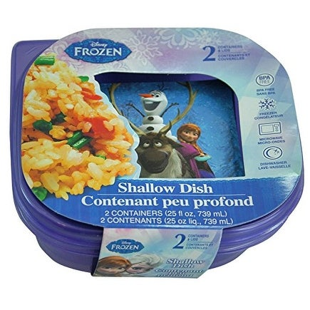 Disney Frozen Food Containers and Snack Boxes Shallow Dish 25 fl oz- set of 2
