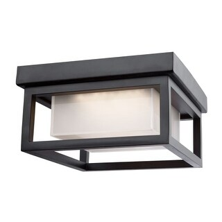 "Artcraft Lighting AC9136 Overbrook Single Light 8-1/4"" Wide Integrated LED Outdoor Flush Mount Ceiling Fixture"