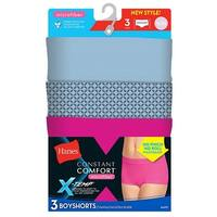 Hanes X-Temp® Constant Comfort® Women's Microfiber Boyshort Panties 3-Pack - Size - 6 - Color - Assorted