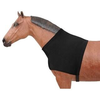 Tough-1 Neck Cover Mane Stay Spandex Shoulder Guard Black