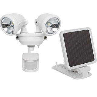 MAXSA INNOVATIONS MXI44217W Maxsa Innovations 44217 Solar-powered Dual Head Led Security Spotlight