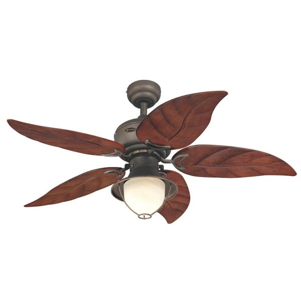 "Westinghouse 7861965 Oasis 48"" 5 Blade Hanging Indoor Ceiling Fan with Reversible Motor, Blades, Light Kit, and Down Rod"