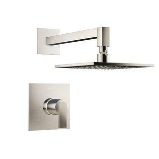 Jacuzzi MX838 Mincio Shower Trim Package with Rain Shower Head with Rough-In Valve Included
