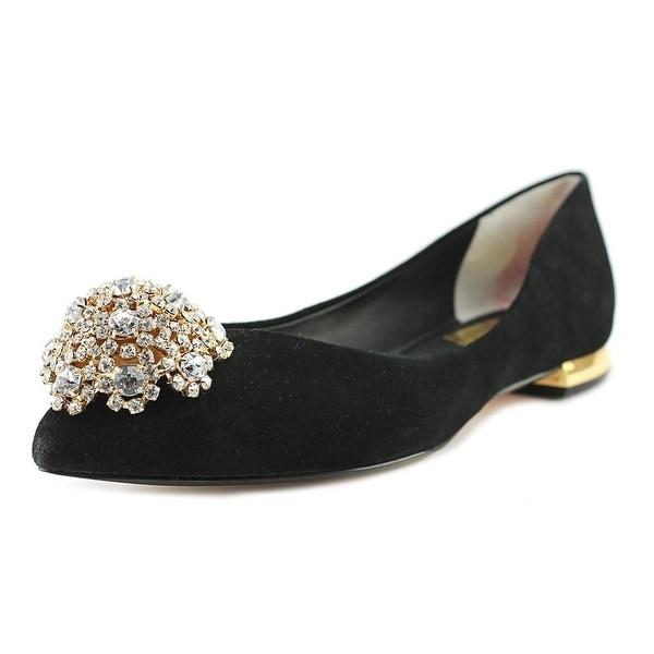 34eb98f3f73 Shop Ted Baker Ljana Women Pointed Toe Suede Black Flats - Free ...