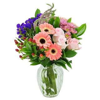 KaBloom: An Elegant Sunrise Mixed Bouquet with Vase