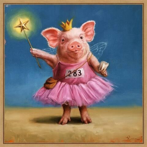Tooth Fairy (Pig) by Lucia Heffernan Framed Canvas Art