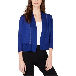Link to Anne Klein Womens Open-Front Cardigan Sweater Similar Items in Women's Sweaters