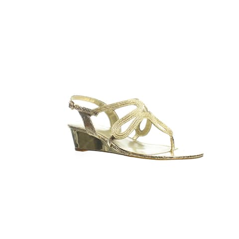 Adrianna Papell Womens Cannes Gold Slingbacks Size 8