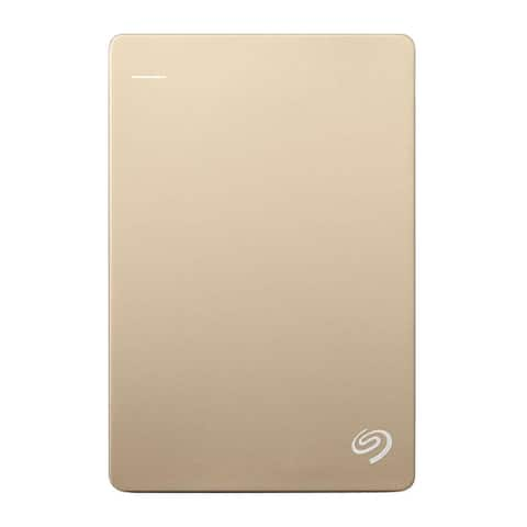 "Seagate 1TB SuperSpeed USB 3.0 2.5"" External Hard Drive (Gold/White) (Refurbished) - 0.6 x 3.2 x 4.9"