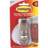 3M Command Lrg Nickel Hook