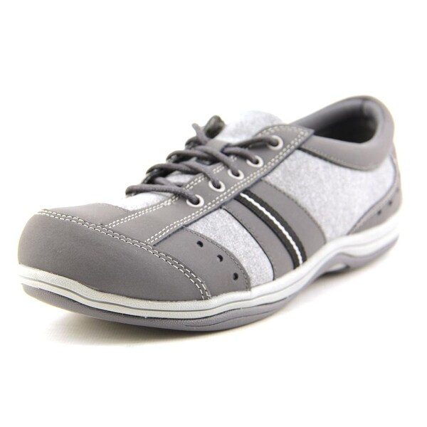 Easy Street Emma Women Grey Leather/Jersey Walking Shoes