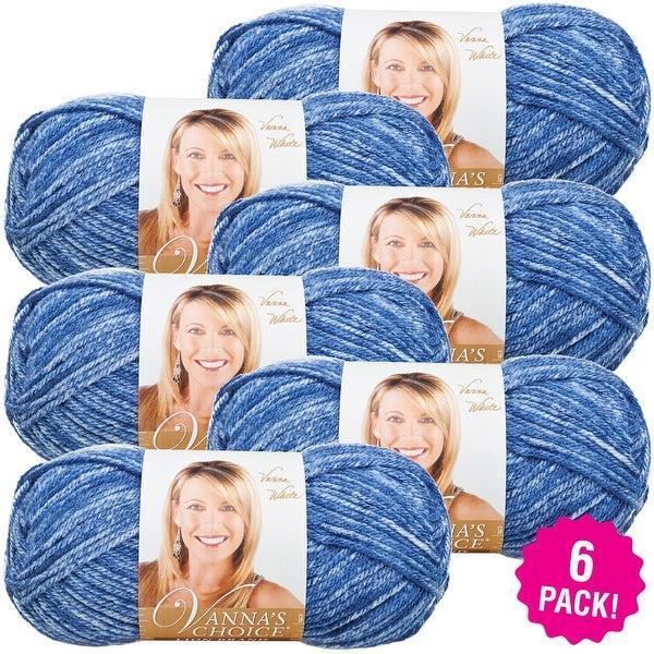 Lion Brand Vanna's Choice Yarn 6/Pk-Denim Mist - Blue