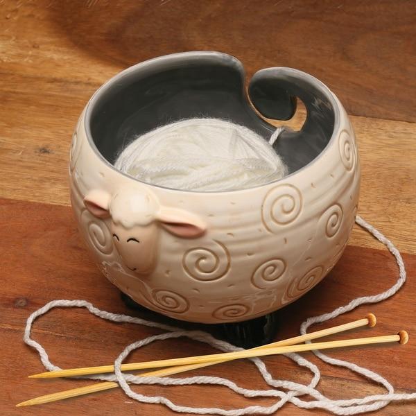 Sheep Shaped Yarn Knitting Bowl