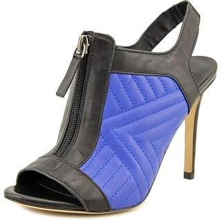 Charles David Inverse Women Peep-Toe Leather Slingback Heel