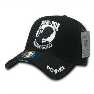 Deluxe Military Baseball Caps, Pow Star Mia, Black