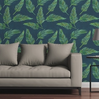 Circle Art Group Removable Wallpaper Tile - Lazy Palms - Multi