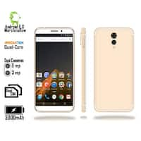 4G LTE Unlocked SmartPhone by Indigi (QuadCore @ 1.2GHz + Android 6 Marshmallow + 8MP CAM + 2SIM + Fingerprint) Gold