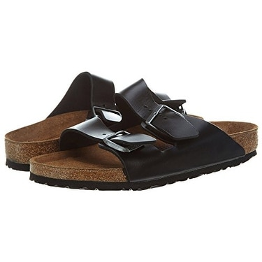 9c7de8efb7f Shop Birkenstock Arizona Black Amalfi Leather Soft Footbed Sandals - US  12-12.5 Men - Free Shipping Today - Overstock - 20292447