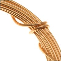Beadsmith Gold Plated Copper German Bead Wire Craft Wire 18 Gauge/1mm (4 Meters / 13.1 Feet)