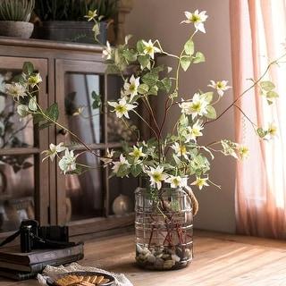 """RusticReach German Clematis Flower Stem in White 40"""" Tall"""