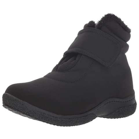 Propet Women's Madi Ankle Strap Snow Boot Black 6 Narrow Narrow US