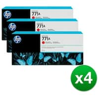 HP 771A 3-Cartridges 775-ml Chromatic Red DesignJet Ink Cartridges (B6Y40A) (4-Pack)
