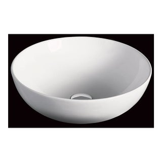 "Eago BA351 17-7/8"" Round Ceramic Above Mount Bathroom Basin - White"