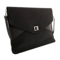 HS1154 NR FULVIA Black Leather Clutch/Shoulder Bag - 15-10-1