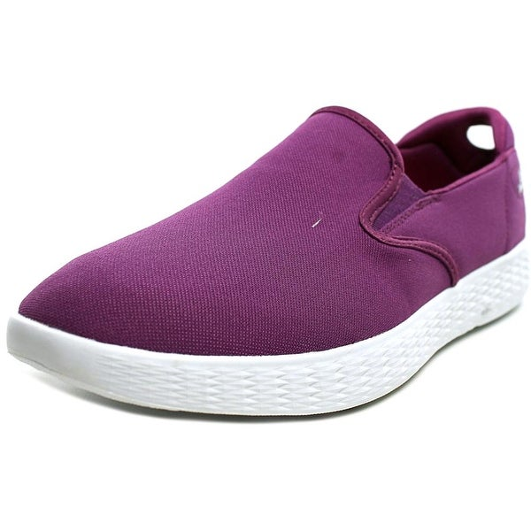 Skechers On The Go Glide Women Round Toe Canvas Purple Loafer