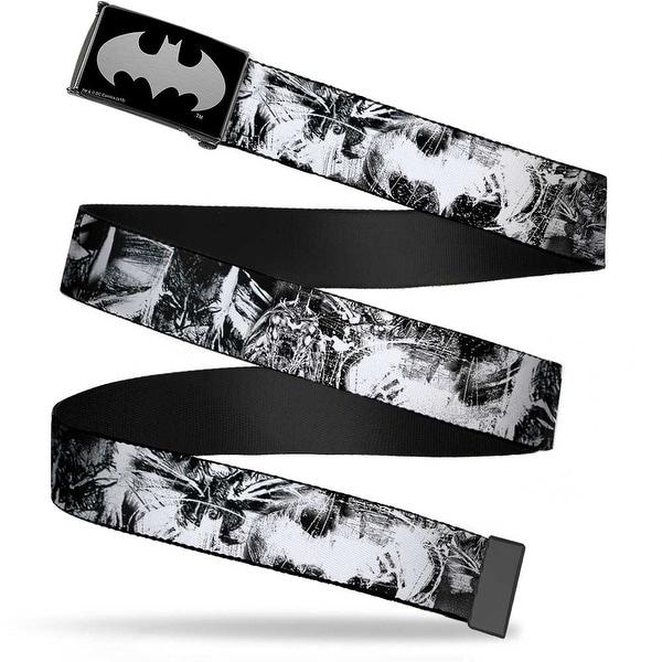 Batman Reverse Brushed Silver Cam Batman Poses & Bat Shield Sketch Web Belt