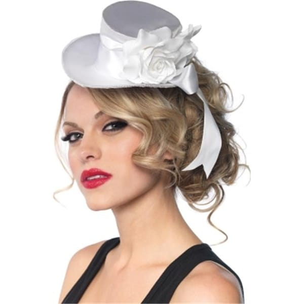 51d26cb76d364 Shop Leg Avenue 198977 White Satin Top Hat- Adult - Free Shipping On Orders  Over  45 - Overstock.com - 22931715