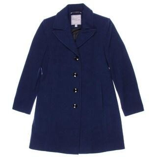 Larry Levine Womens Wool Solid Coat