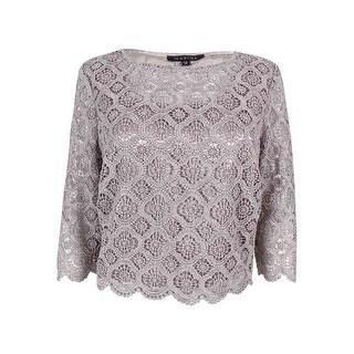Marina Women's Metallic Crochet Dress Top - m