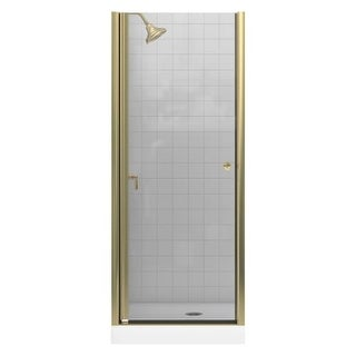 "Kohler K-702400-L Frameless Pivot Shower Door - 28.75""-30.25"" W x 65.5"" H (Option: Nickel Finish)"