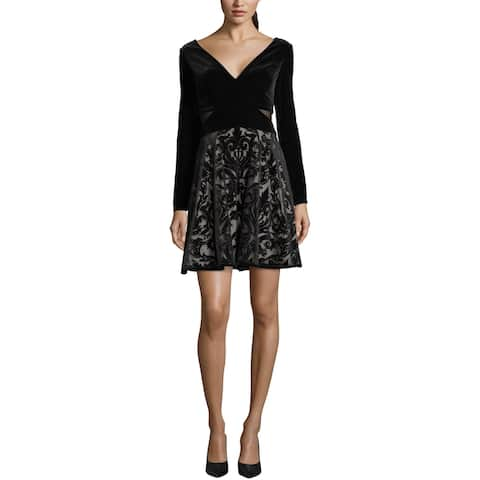 Xscape Womens Party Dress Velvet Fit & Flare