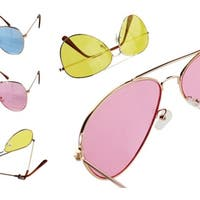5bbbeeabe0 Shop White Rimmed Aviator Style Sunglasses by Swag - Free Shipping ...