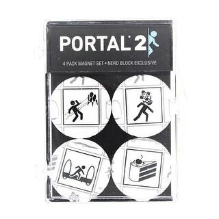 Portal 2 4-Piece Magnet Set - Multi