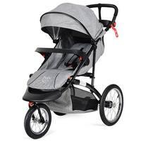 Baby-Joy Portable Folding Stroller Baby Jogger Kids Travel Pushchair Adjustable Handlebar - Gray