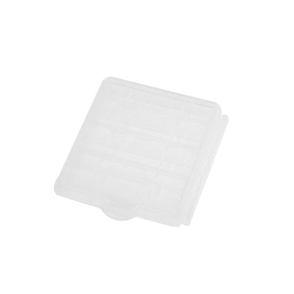 Unique Bargains Portable Clear Plastic Carry Case Holder for 4 AA Batteries