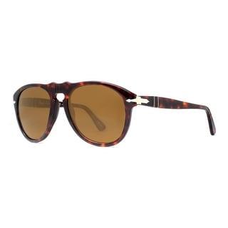 Persol PO 649 24/57 54mm Havana Brown Polarized Sunglasses - 54mm-20mm-140mm