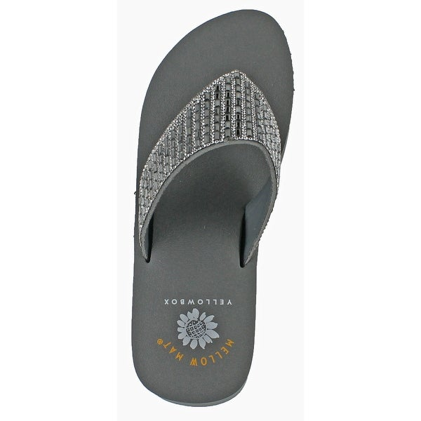 Yellow Box Sequin Flip Flops