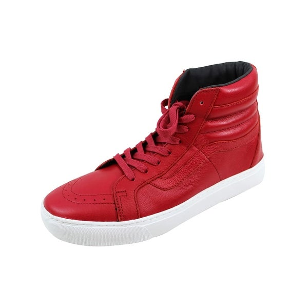 45f8fcfabf Shop Vans Men s Sk8 Hi Cup Red Leather VN0A2Z5X1ED - Free Shipping ...